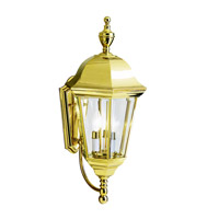 Kichler 9489PB Grove Mill 3 Light 24 inch Polished Brass Outdoor Wall Lantern