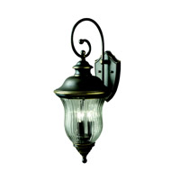 Kichler 9492OZ Sausalito 3 Light 28 inch Olde Bronze Outdoor Wall Lantern