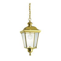 Kichler Lighting Bay Shore 1 Light Outdoor Pendant in Polished Brass 9513PB