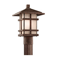 Kichler Lighting Cross Creek 1 Light Outdoor Post Lantern in Aged Bronze 9527AGZ photo thumbnail