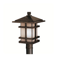 Kichler Lighting Cross Creek 1 Light Outdoor Post Lantern in Aged Bronze 9529AGZ photo thumbnail
