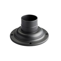 Kichler 9530BK Pier & Post Light Accessories 4 inch Black Pedestal Adaptor