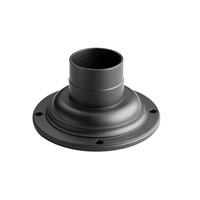 Kichler 9530BK Pier & Post Light Accessories 4 inch Black Pedestal Adaptor