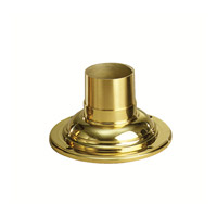 Pier & Post Light Accessories 4 inch Polished Brass Pedestal Adaptor