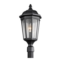 Courtyard 1 Light 24 inch Textured Black Post Lantern