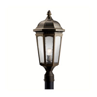 Kichler Lighting Courtyard 1 Light Outdoor Post Lantern in Rubbed Bronze 9532RZ