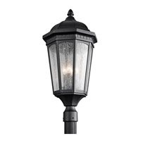 Kichler Lighting Courtyard 3 Light Post Lantern in Textured Black 9533BKT photo thumbnail