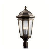 Kichler 9533RZ Courtyard 3 Light 27 inch Rubbed Bronze Outdoor Post Lantern