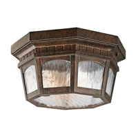 Kichler Lighting Tolland 3 Light Outdoor Flush Mount in Brushed Bronze 9538BRZ photo thumbnail