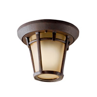Kichler Lighting Melbern 1 Light Outdoor Flush Mount in Aged Bronze 9555AGZ photo thumbnail