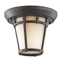 Kichler Lighting Lura 1 Light Outdoor Flush Mount in Anvil Iron 9555AVI photo thumbnail