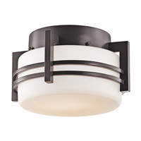Pacific Edge 1 Light 11 inch Architectural Bronze Outdoor Flush Mount