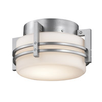 Kichler Rivera 1 Light Outdoor Flush & Semi Flush Mt in Platinum 9557PL