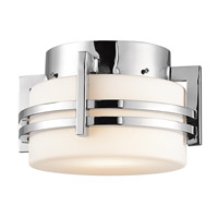 Kichler Lighting Pacific Edge 1 Light Outdoor Flush Mount in Polished Stainless Steel 9557PSS316
