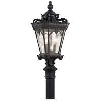 Tournai 3 Light 27 inch Textured Black Post Lantern
