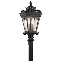 Tournai 4 Light 30 inch Textured Black Post Lantern