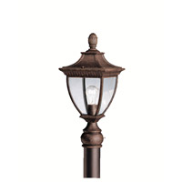 Kichler Lighting Amesbury 1 Light Outdoor Post Lantern in Tannery Bronze w/ Gold Accent 9562TZG