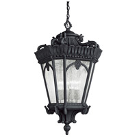 Kichler Lighting Tournai 4 Light Outdoor Hanging Pendant in Textured Black 9564BKT