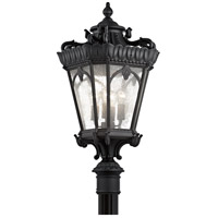 Tournai 4 Light 38 inch Textured Black Post Lantern