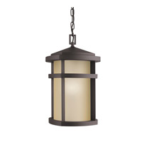 Kichler Lighting Lantana 1 Light Outdoor Pendant in Architectural Bronze 9567AZ photo thumbnail