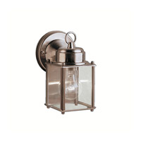 Signature 1 Light 8 inch Stainless Steel Outdoor Wall Lantern in Clear Glass