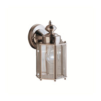 Signature 1 Light 10 inch Stainless Steel Outdoor Wall Lantern