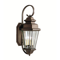 Kichler 9631OZ Savannah Estates 4 Light 35 inch Olde Bronze Outdoor Wall Lantern