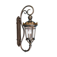 Kichler Lighting Standish 3 Lt Outdoor Wall Bracket in Legecy Bronze W/Gold Highlight 9639LZG photo thumbnail