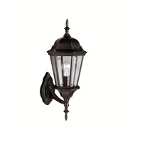 Kichler Lighting Madison 1 Light Outdoor Wall Lantern in Black (Painted) 9653BK