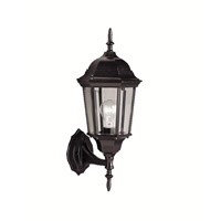 Kichler Lighting Madison 1 Light Outdoor Wall Lantern in Black (Painted) 9654BK