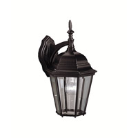 Kichler Lighting Madison 1 Light Outdoor Wall Lantern in Black (Painted) 9655BK