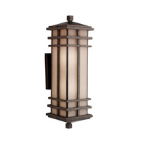 Kichler Lighting Cross Creek 2 Light Outdoor Wall Lantern in Aged Bronze 9656AGZ