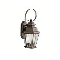 Kichler 9676OZ Savannah Estates 2 Light 19 inch Olde Bronze Outdoor Wall Lantern