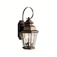 Kichler 9677OZ Savannah Estates 3 Light 25 inch Olde Bronze Outdoor Wall Lantern