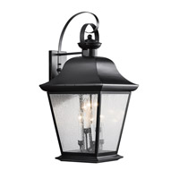 Kichler 9703BK Mount Vernon 6 Light 33 inch Black Outdoor Wall Lantern
