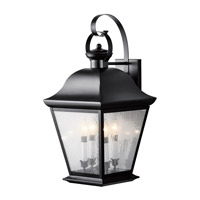 Kichler Lighting Mount Vernon 4 Light XLarge Outdoor Wall Lantern in Black 9704BK
