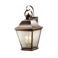 Kichler Lighting Mount Vernon 4 Light Outdoor Wall Lantern in Olde Bronze 9704OZ photo thumbnail