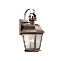 Kichler Lighting Mount Vernon 1 Light Outdoor Wall Lantern in Olde Bronze 9707OZ photo thumbnail