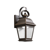 Kichler 9707OZLED Mount Vernon LED 13 inch Olde Bronze Outdoor Wall - Small