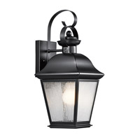 Kichler Lighting Mount Vernon 1 Light Medium Outdoor Wall Lantern in Black 9708BK