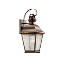 Kichler 9708OZ Mount Vernon 1 Light 17 inch Olde Bronze Outdoor Wall Lantern in Standard
