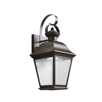 Kichler 9708OZLED Mount Vernon LED 17 inch Olde Bronze Outdoor Wall - Small