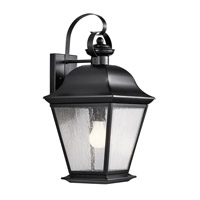 Kichler Lighting Mount Vernon 1 Light Large Outdoor Wall Lantern in Painted Black 9709BK
