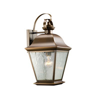 Kichler 9709OZ Mount Vernon 1 Light 20 inch Olde Bronze Outdoor Wall Lantern in Standard