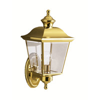 Kichler 9712PB Bay Shore 1 Light 16 inch Polished Brass Outdoor Wall Lantern