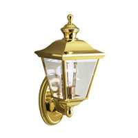 Kichler 9713PB Bay Shore 1 Light 20 inch Polished Brass Outdoor Wall Lantern photo thumbnail