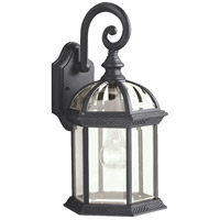 Kichler Lighting Barrie 1 Light Outdoor Wall Lantern in Black (Painted) 9735BK