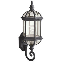 Kichler Lighting Barrie 1 Light Outdoor Wall Lantern in Black (Painted) 9736BK