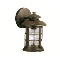 Kichler 9759RST Rustic 1 Light 10 inch Rustic Outdoor Wall Lantern