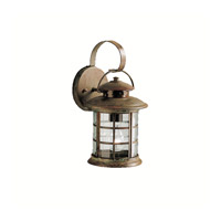 Kichler 9760RST Rustic 1 Light 14 inch Rustic Outdoor Wall Lantern